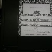 DIY, Stationery, black, silver, Invitations, Wedding, My, Damask, Semi, Mahoganieyes