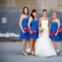 Flowers & Decor, Bridesmaids, Bridesmaids Dresses, Fashion, pink, blue, Bridesmaid Bouquets, Flowers, Flower Wedding Dresses
