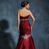 Wedding Dresses, Fashion, red, dress, Back, View, Solano, Mia, M2715l