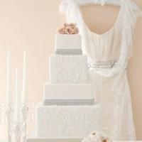 Cakes, white, cake, Vintage, Vintage Wedding Cakes, Lace