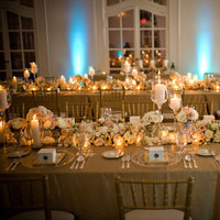 Reception, Flowers & Decor, gold