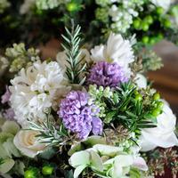 Flowers & Decor, purple, green, Centerpieces, Garden, Flowers, Garden Wedding Flowers & Decor, Centerpiece, Rosemary