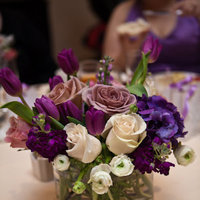 Reception, Flowers & Decor, white, purple, Flowers