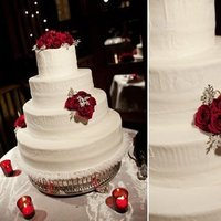 Flowers & Decor, Cakes, white, red, cake, Flowers