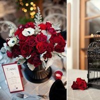 Flowers & Decor, red, gray, black, Flowers