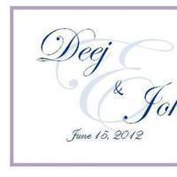 Stationery, purple, blue, Invitations, Monogram