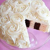 Cakes, white, pink, brown, cake