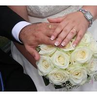 white, blue, Rings, Wedding