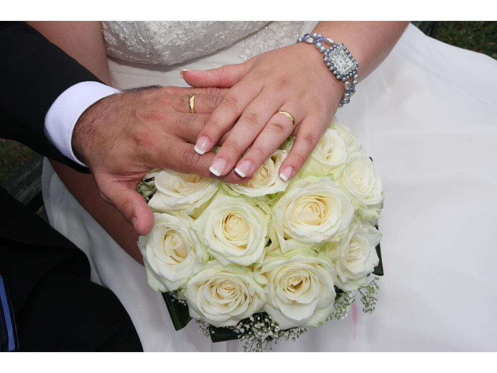 white, blue, Rings, Wedding