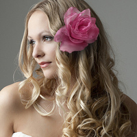 Beauty, Flowers & Decor, pink, Bride Bouquets, Bride, Flowers, Flower, Wedding, Romantic, Hair, Bridal, Rose, Alternative, Organza, Urban, Chic, Hippie, Accent, Offbeat, Realistic