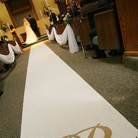 Ceremony, Flowers & Decor, white, gold, Monogram, Aisle, Runner