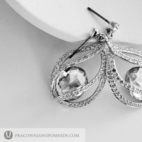 Ceremony, Flowers & Decor, Jewelry, white, silver, Swarovski, Earings