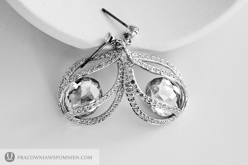 Ceremony, Flowers & Decor, Jewelry, white, silver, Swarovski, Earings