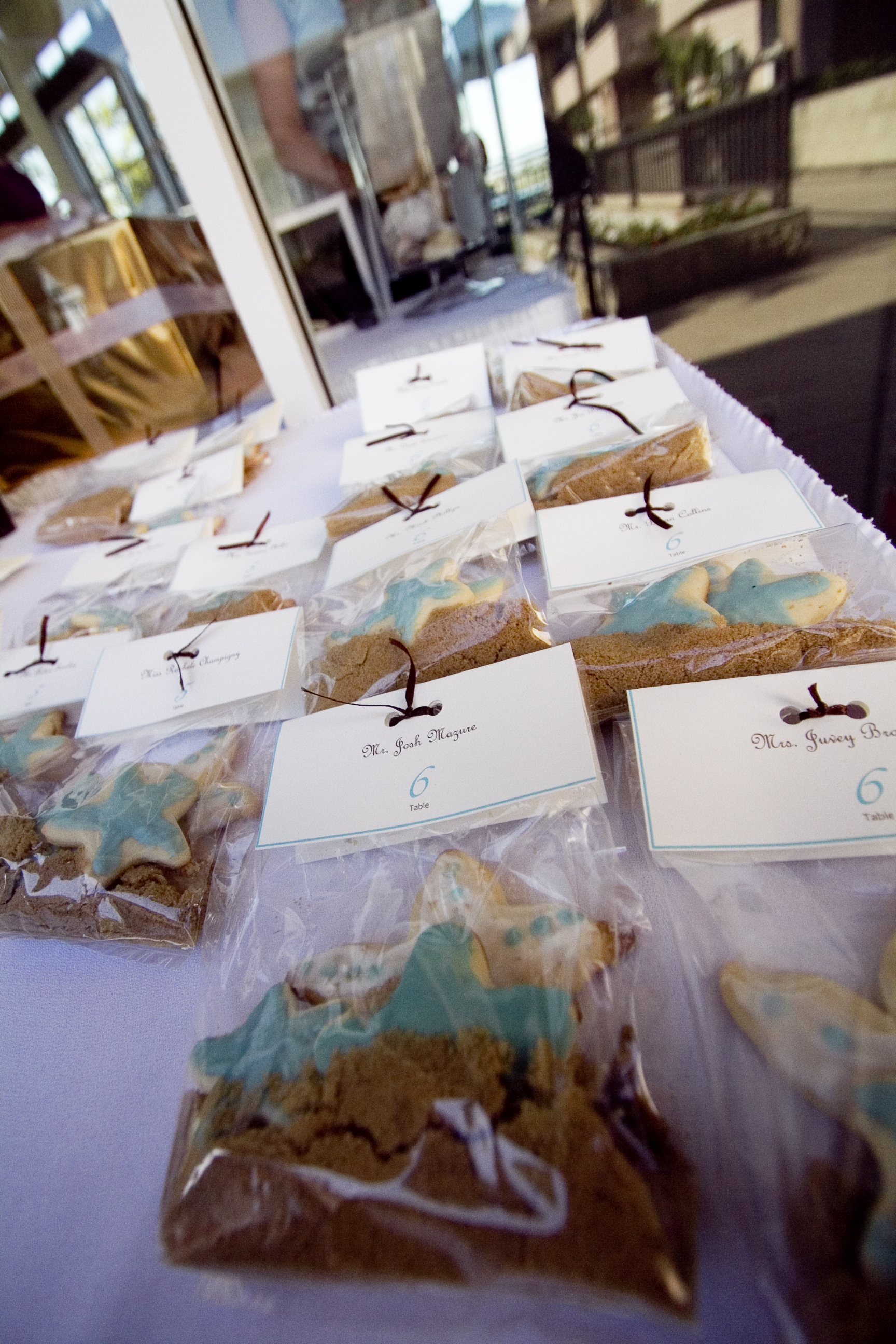 Favors & Gifts, blue, brown, Favors, Beach, Cookie, Starfish