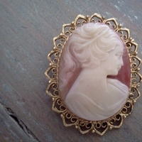 Jewelry, ivory, Brooches, Vintage, Shell, Old, Brooch, Something, Cameo