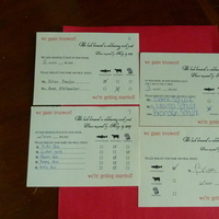 Stationery, red, gold, Invitations, Cards, Fish, Response, Symbols, Cow