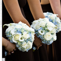 Flowers & Decor, Bridesmaids, Bridesmaids Dresses, Fashion, white, blue, Bridesmaid Bouquets, Flowers, Flower Wedding Dresses
