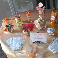 Reception, Flowers & Decor, Cakes, orange, cake, Table, Inspiration board