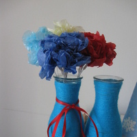 Flowers & Decor, yellow, red, blue, Flowers