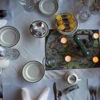 Reception, Flowers & Decor, green, travel, Centerpieces, Candles, Centerpiece, Votive, Airplane, Non-floral