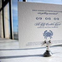 Stationery, Destinations, white, invitation, Beach, Beach Wedding Invitations, Invitations, Wedding, Destination, Elegant, Letterpress, Navy