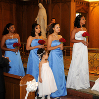 Ceremony, Flowers & Decor, Bridesmaids, Bridesmaids Dresses, Wedding Dresses, Fashion, red, blue, dress