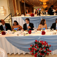 Reception, Flowers & Decor, red, blue