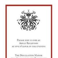 Stationery, white, red, black, Invitations