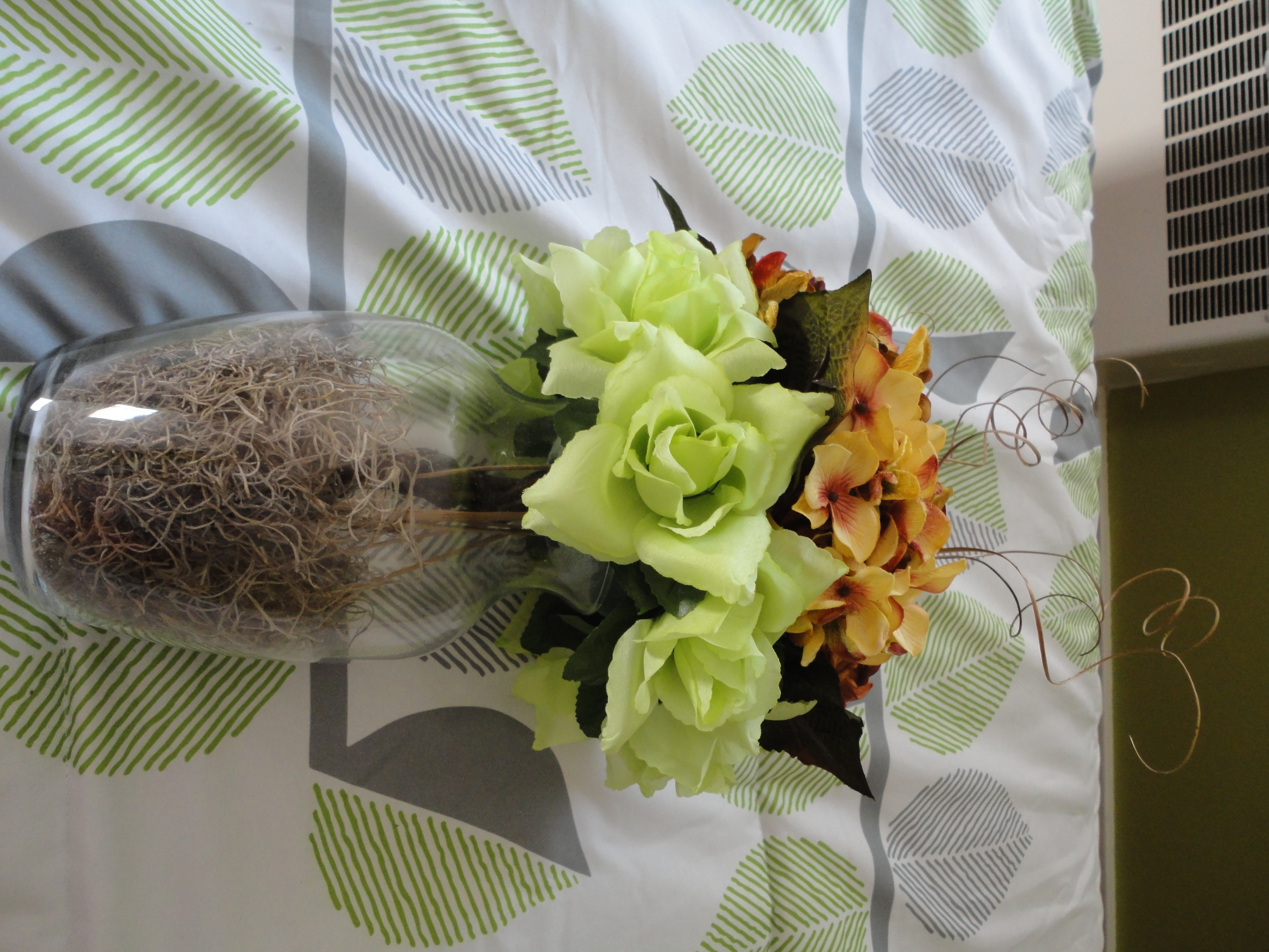 Reception, Flowers & Decor, orange, green, brown