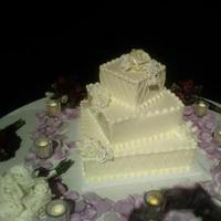 Reception, Flowers & Decor, Cakes, white, red, purple, gold, cake