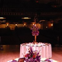 Reception, Flowers & Decor, white, red, purple, gold, Centerpieces, Flowers, Centerpiece