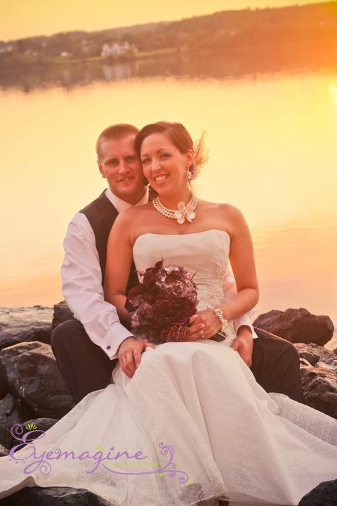 Bride, Groom, Sunset