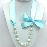 Jewelry, blue, Necklaces, Necklace, Pearl