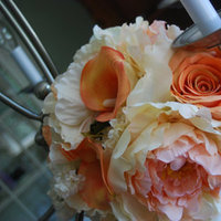 Flowers & Decor, white, orange, Bride Bouquets, Flowers, Bouquet, Wedding, Bridal, Florist, Silk