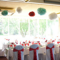 Reception, Flowers & Decor, Decor, red, blue, Table, And, Carnation, Head, Aqua