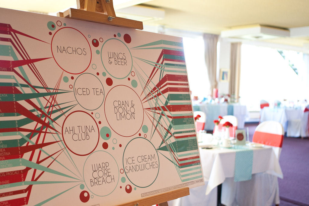 Reception, Flowers & Decor, red, blue, Unique, Aqua, Seating, Chart