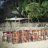 Ceremony, Flowers & Decor, Beach, Beach Wedding Flowers & Decor, Coral, Ria john