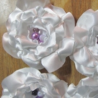 Beauty, Flowers & Decor, Bridesmaids, Bridesmaids Dresses, Fashion, white, pink, purple, Bridesmaid Bouquets, Flowers, Hair, Wisteria, Flower Wedding Dresses