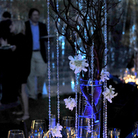 Reception, Flowers & Decor, blue, Centerpieces, Flowers, Centerpiece, Table, Inspiration board, Tahoe, Setting