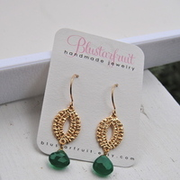 Jewelry, green, gold, Bridesmaid, Blustarfruit