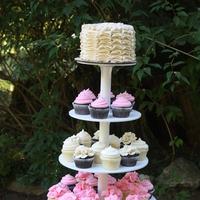 Cakes, white, pink, cake, Vintage, Vintage Wedding Cakes