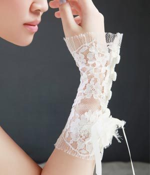 Jewelry, white, Classic, Accessories, Gloves, Lace
