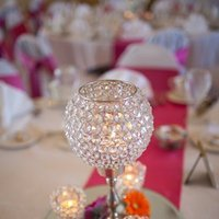Reception, Flowers & Decor, orange, pink, Centerpieces, Centerpiece