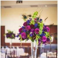 Reception, Flowers & Decor, pink, red, purple, blue, green, Flowers