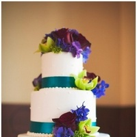 Reception, Flowers & Decor, Cakes, white, pink, red, purple, blue, green, cake