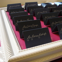 Stationery, blue, Escort Cards