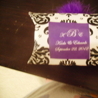 Reception, Flowers & Decor, Favors & Gifts, white, purple, black, silver, Favors