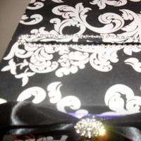 Reception, Flowers & Decor, white, purple, black, silver, Inspiration board