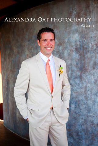 orange, Groomsmen, Ties