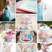 pink, blue, Inspiration board